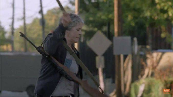 the walking dead 7x13 carol /></div>  Carol ya sabe la verdad (Foto: <span class=