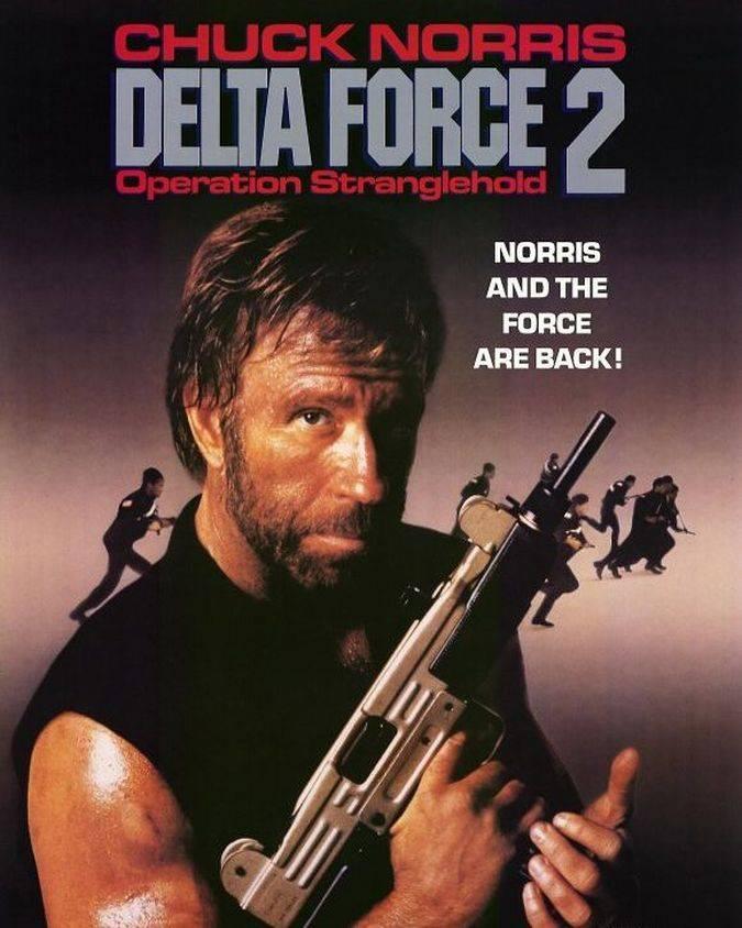 chuck norris poster delta force