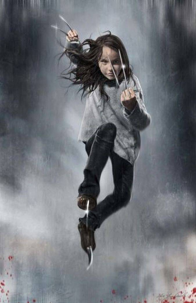 logan concept art x-23 laura