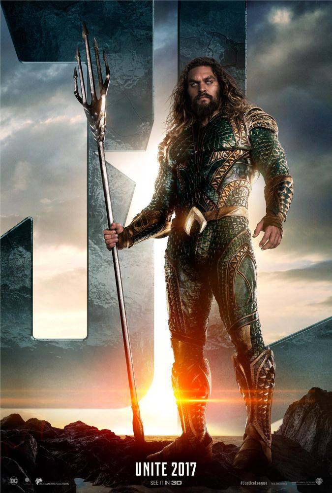justice league aquaman poster