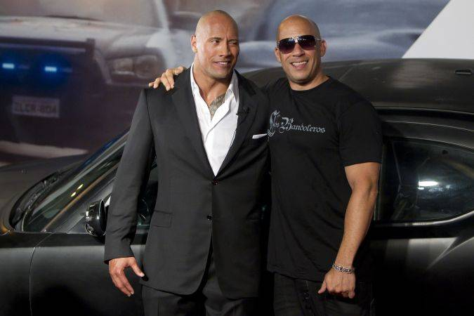 the fate of the furious vin diesel dwayne the rock johnson