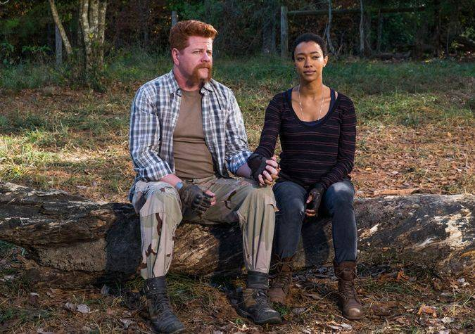the walking dead 7x16 finala sasha muerte abraham