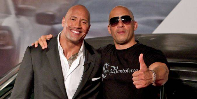 the fate of the furious vin diesel the rock johnson