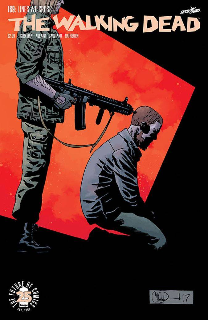 the walking dead 169 portada comic rick dwight