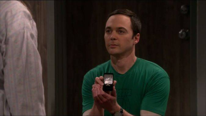 the big bang theory 10x24 sheldon anillo compromiso
