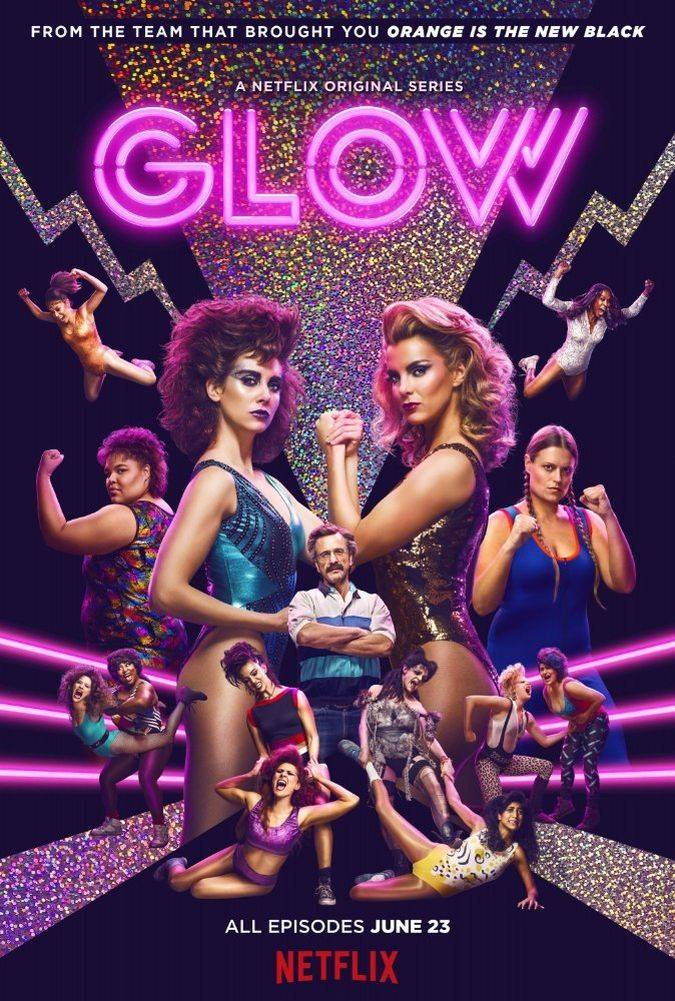 glow poster oficial serie netflix