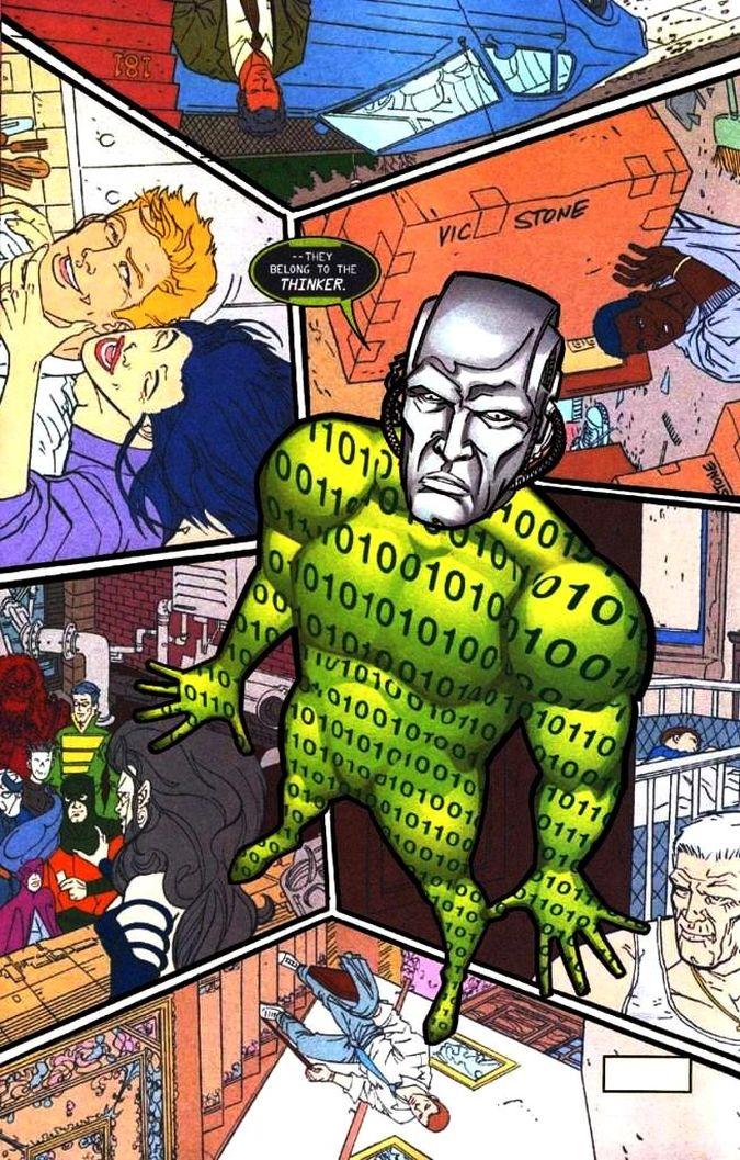 the thinker the flash dc comics