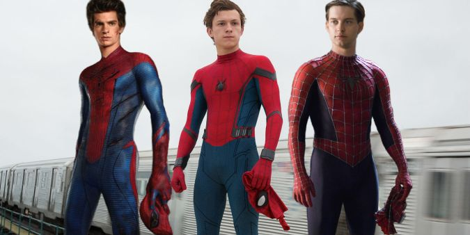 spider-man homecoming tom holland tobey maguire andrew garfield