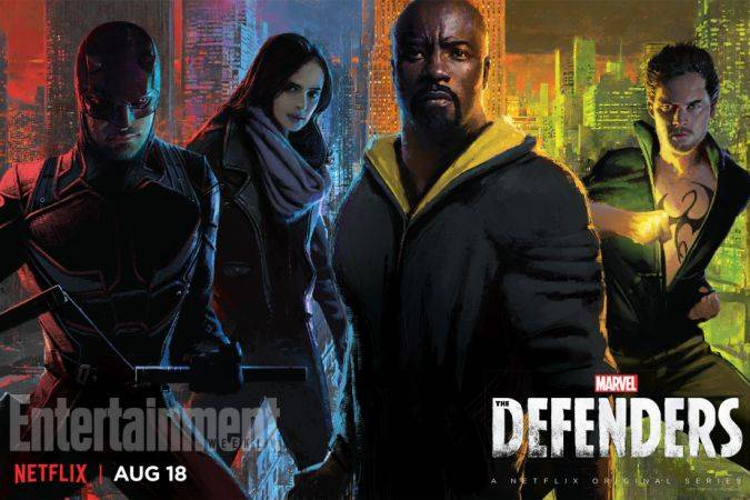the defenders posters netflix marvel comic-con 2017