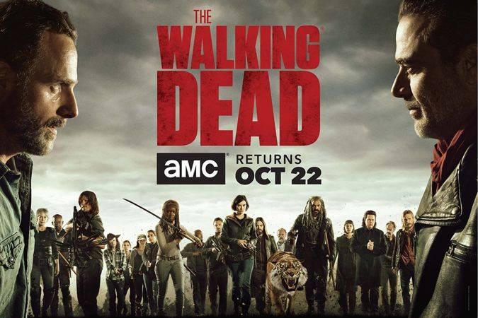 the walking dead temporada 8 poster amc rick negan guerra