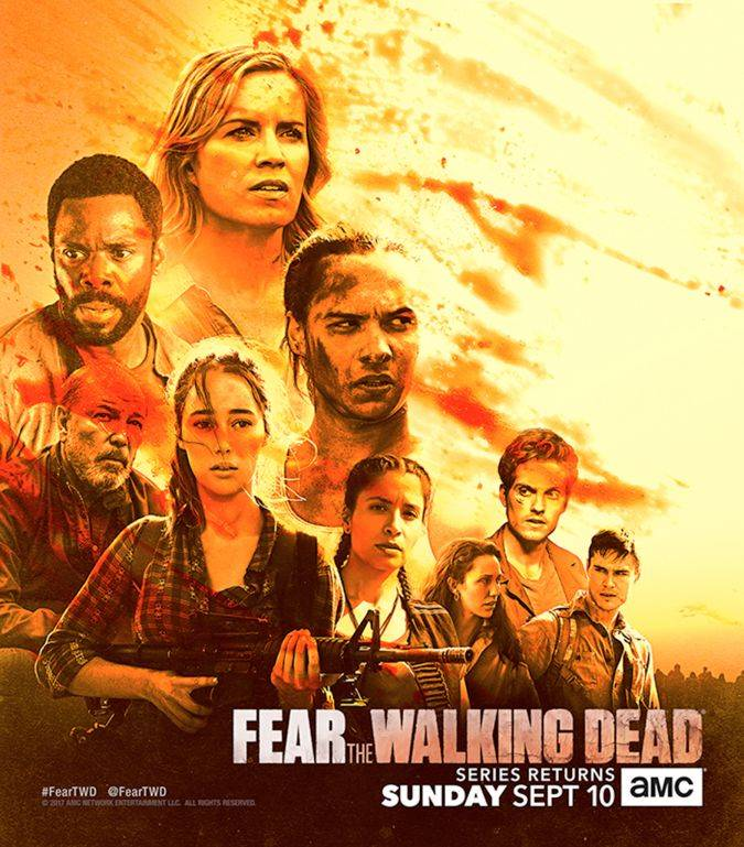 fear the walking dead temporada 3 poster comic-con 2017