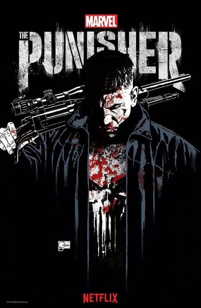 the punisher poster serie netflix marvel