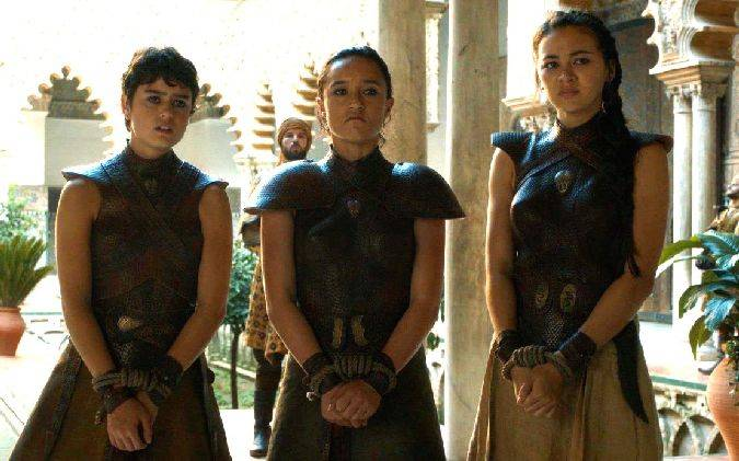 game of thrones serpientes arena nymeria obara tyene