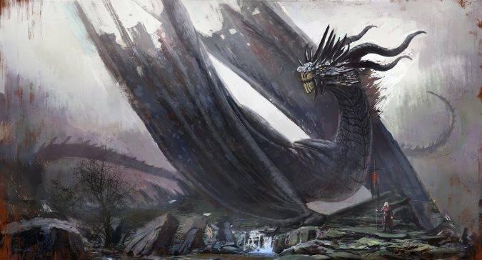game of thrones balerion dragon terror negro