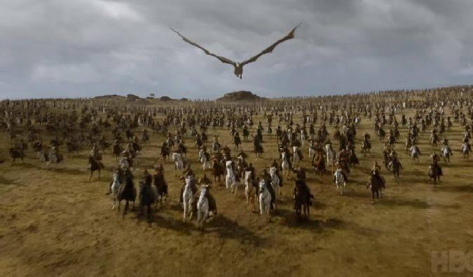 game of thrones 7x04 batalla daenerys drogon dothrakis