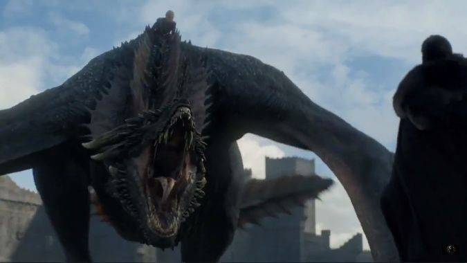 game of thrones 7x04 drogon daenerys jon snow
