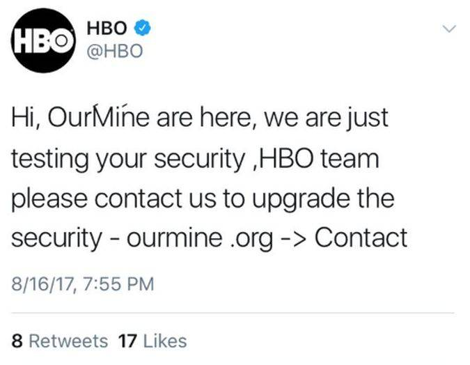 game of thrones hackers hbo twitter