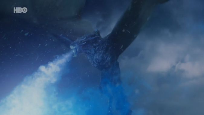 game of thrones 7x07 viserion white walkers