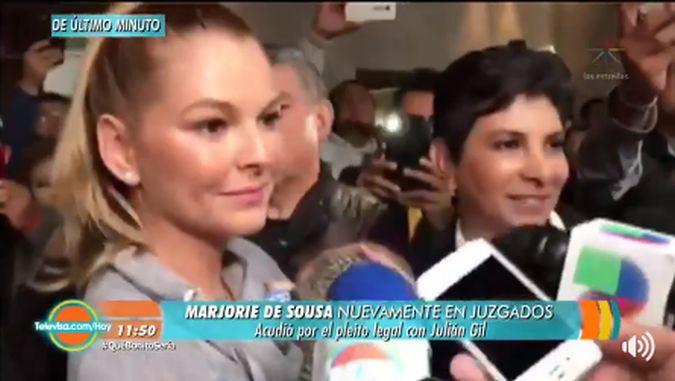 Marjorie de Sousa acude con Matías al Juzgado y Julián Gil no lo hace por esta razón