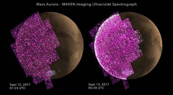 NASA sorprende al mundo con registro de aurora global nunca antes vista en Marte