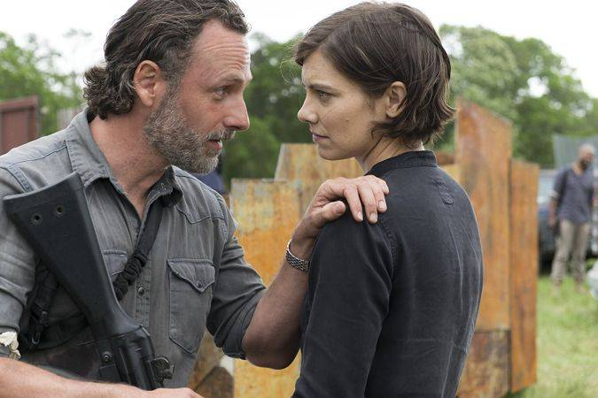 the walking dead temporada 8 rick grimes maggie