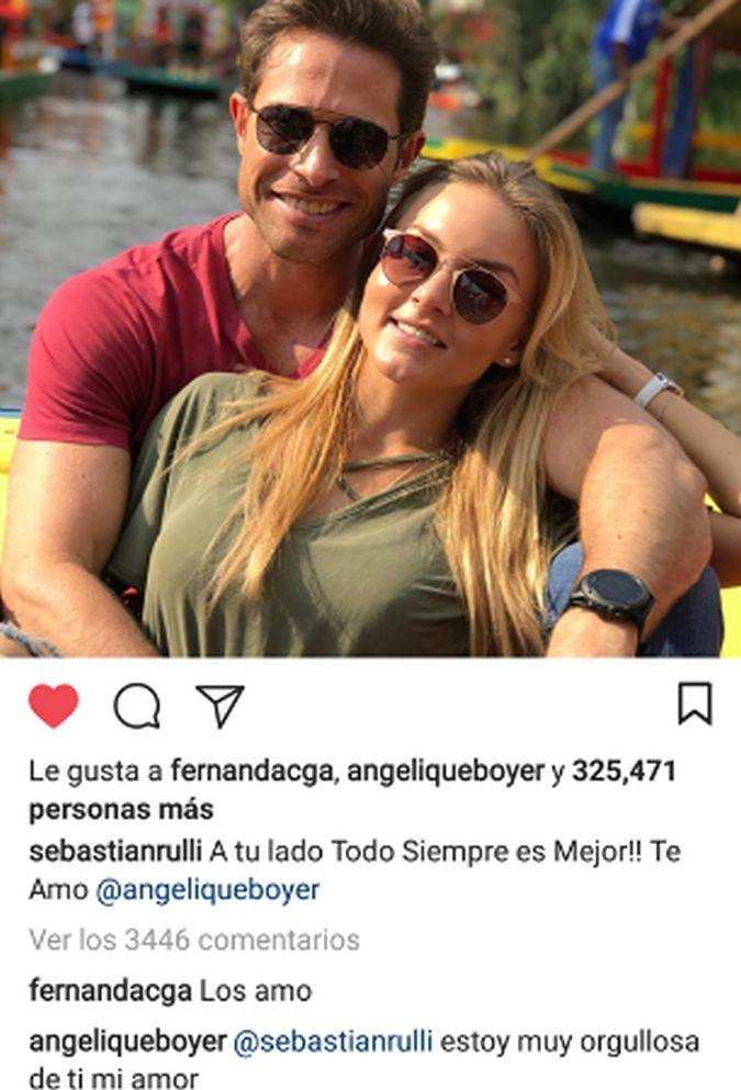 Sebastián Rulli dedica tierno mensaje a Angelique Boyer y lo que ella responde cautiva a miles