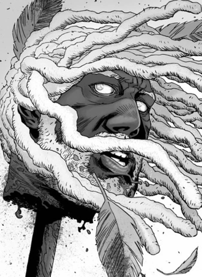 the walking dead comic rey ezekiel muerte