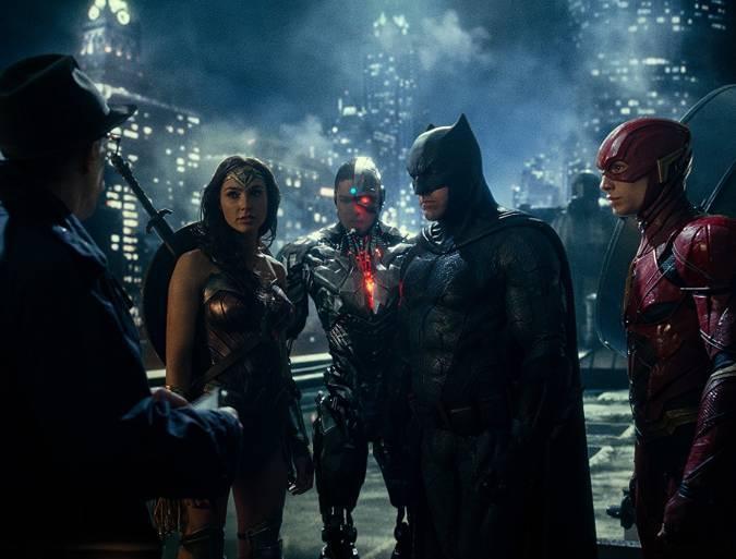 justice league batman wonder woman cyborg the flash jim gordon