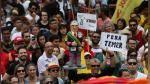 Brasil: artistas protestaron contra Michel Temer en Río de Janeiro - Noticias de copacabana