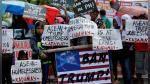Donald Trump aún no llega a Filipinas pero cientos ya protestan contra él en Manila - Noticias de eric vasille