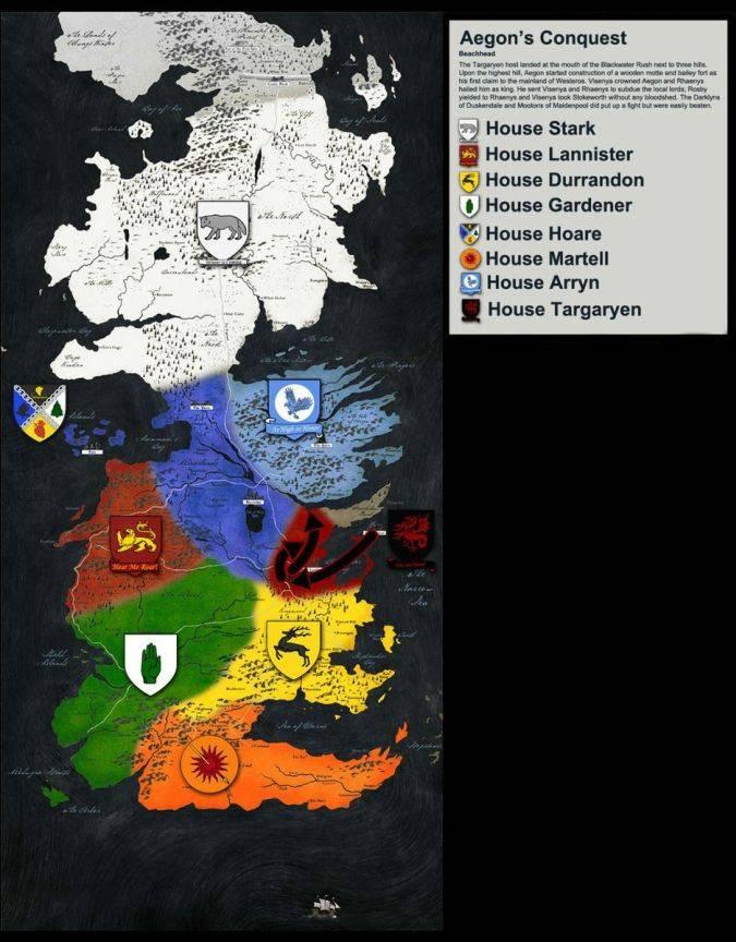 Game Of Thrones Cuáles Son Los Siete Reinos Esta Es Una Guía