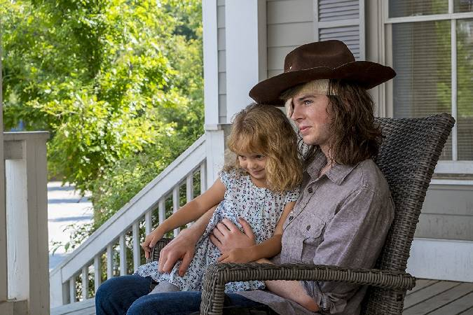 the walking dead 8x09 carl judith
