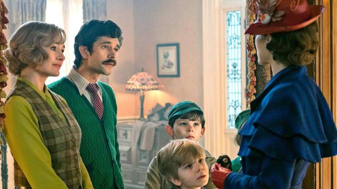 mary poppins returns niños banks