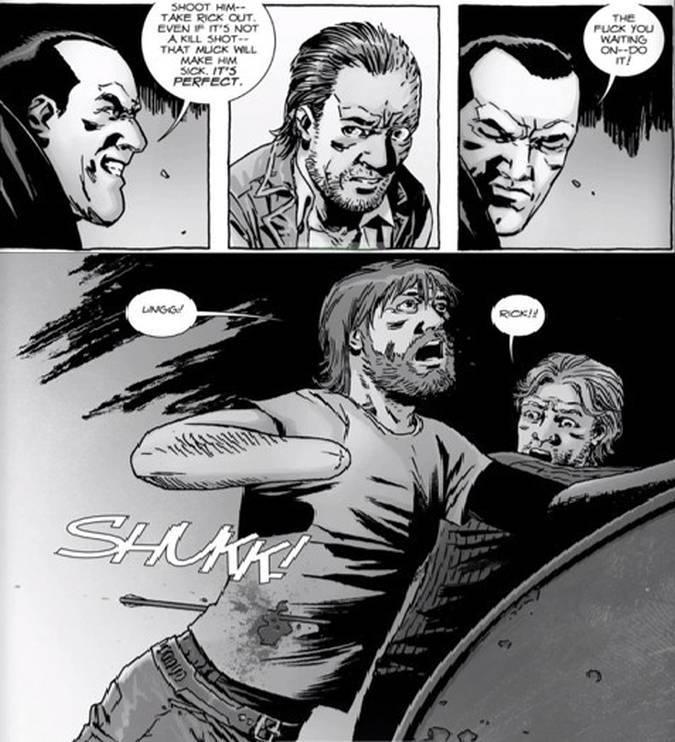 the walking dead rick dwight comic