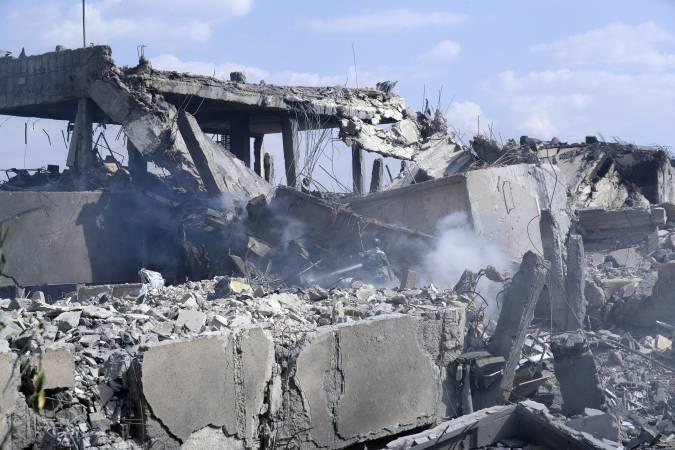 siria edificio destruido bombardeo usa