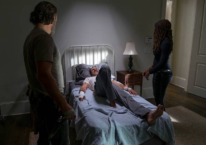 the walking dead 8x16 negan rick michonne