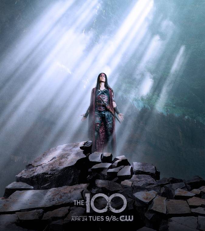 the 100 temporada 5 red queen octavia