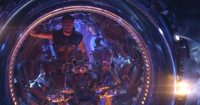 avengers infinity war thor rocket groot