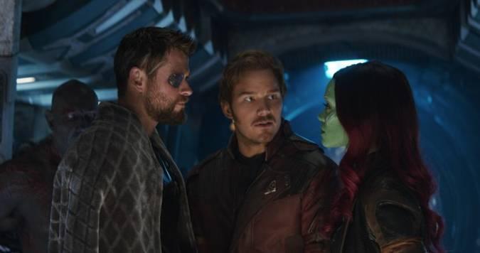 avengers infinity war thor gamora star-lord
