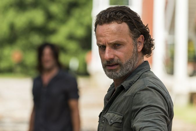the walking dead norman reedus andrew lincoln daryl rick