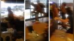 YouTube: Cayó a través del techo de restaurante e inmediatamente empezó a pelear con todos   VIDEO   FOTOS - Noticias de mesa de reconstrucci��n