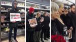 Facebook viral: Veganos forman cadena humana alrededor de venta de pavos de Navidad en supermercado | VIDEO - Noticias de sangre