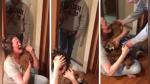 YouTube | La increíble reacción de una mujer al recibir un par de cachorros - Noticias de padres de familia