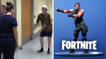 Celebra su alta retando a personal de hospital a bailar el 'floss' de Fortnite - Noticias de