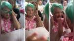 Anciana se tiñe el cabello por primera vez y grita de emoción al ver el resultado - Noticias de celebridad