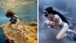 El increíble entrenamiento de una buzo de profundidades colombiana corriendo con rocas - Noticias de apnea