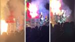 Vocalista de banda tributo a KISS no deja de cantar pese a que su cabello arde en llamas - Noticias de paul phompiu