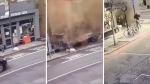Se salvó por un pelo de morir aplastado tras caída de techo - Noticias de video viral