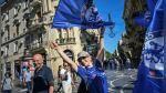 Arsenal vs. Chelsea: hinchas británicos toman en son de paz las calles de la plácida Bakú - Noticias de cervezas