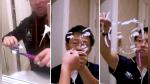 Mira cómo un espejo de baño manchado de pasta de dientes se convierte en una obra de arte - Noticias de rostro